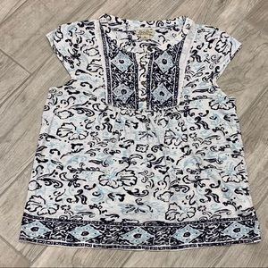 Lucky Brand Live in Love Woman's Paisley Top